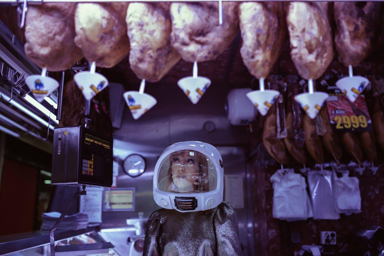 fotografía artística astronauta teoricadelcaos
